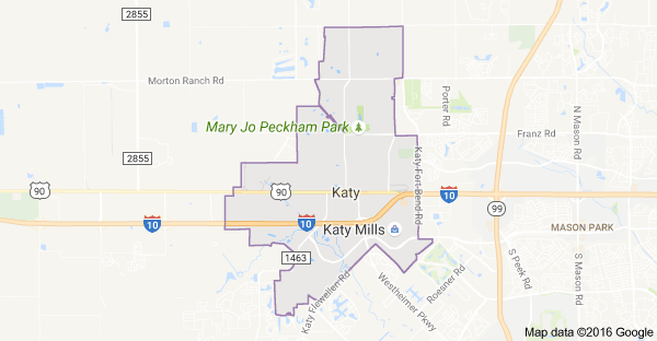 Map Of Texas Katy.Katy Map Katy Plumbing Services